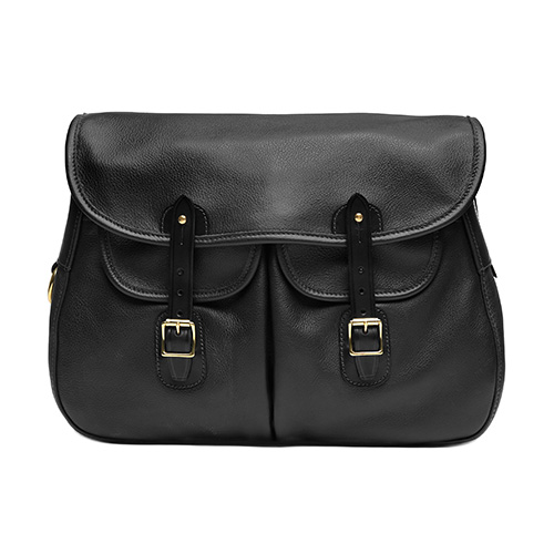 Brady Ariel Trout Leather Large Bag Black