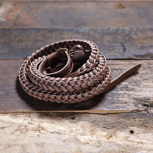 Barton1972 Leather Neck Strap Braided Prime - Natural