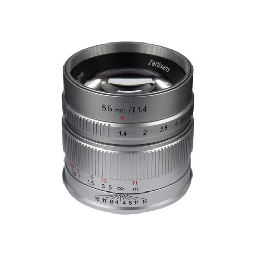 7Artisans 55mm f/1.4 APS-C Manual Fixed Lens Silver [예약판매]
