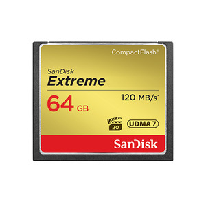 [SanDisk] Extreme CompactFlash Card 64GB 120MB/s (800x)