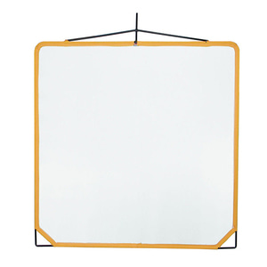 "Solid Frame Scrim 48"" x 48"" White Aritifical Silk (159015)"