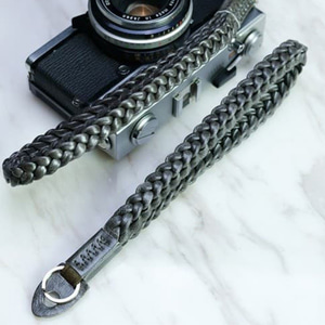 Barton1972 Leather Wrist Strap Braidy - Silver shade