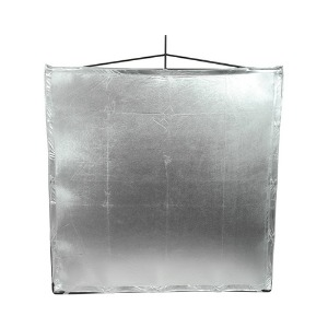 "Road Flag Silver Lame 48""X48""(169198)"