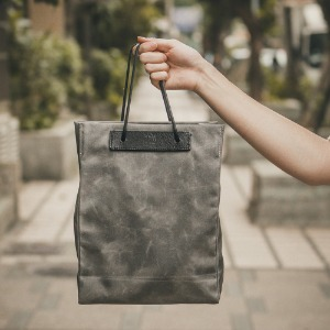 [WOTANCRAFT] Foldable Shopping Bag 5L - Vintage Grey